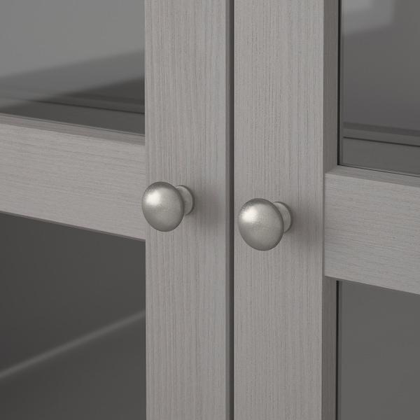 HAVSTA Combi almacenaje puertas vidrio, gris, 162x37x134 cm
