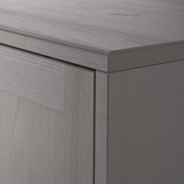 HAVSTA Combinación de armario y estantería, gris, 162x37x134 cm