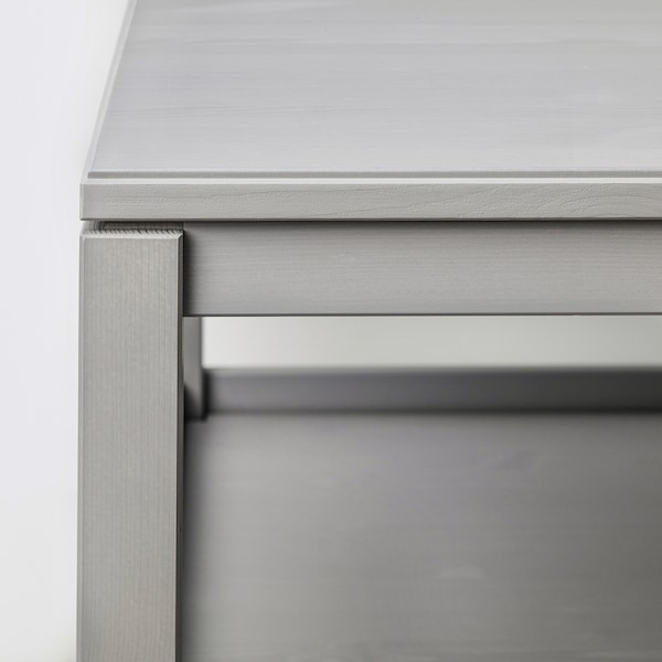 HAVSTA Mesa de centro, gris, 100x75 cm