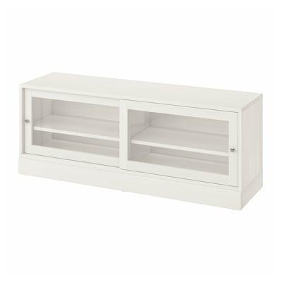 HAVSTA Mueble TV con zócalo, blanco, 160x47x62 cm