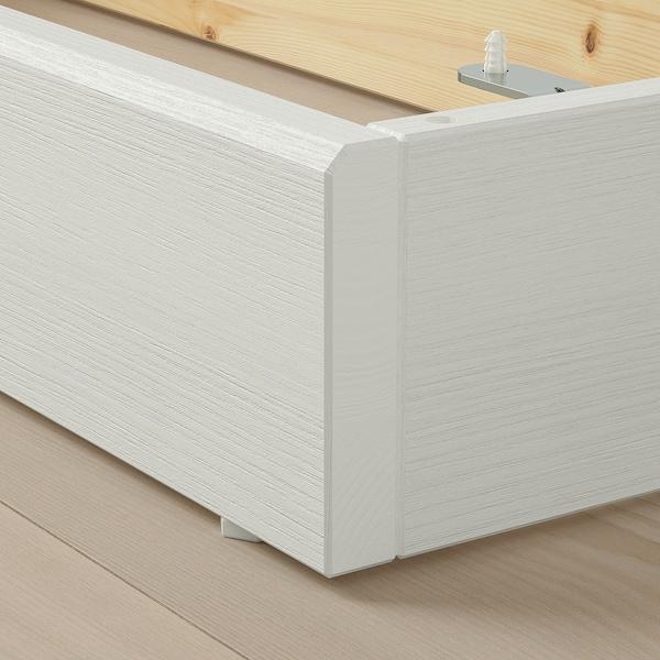 HAVSTA Zócalo, blanco, 121x37x12 cm