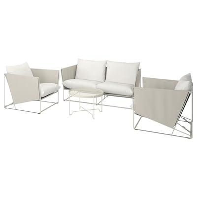 HAVSTEN Juego muebles 4 int/ext, beige