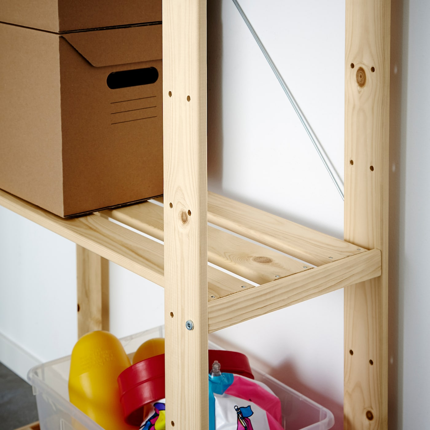 estantería madera ikea hejne
