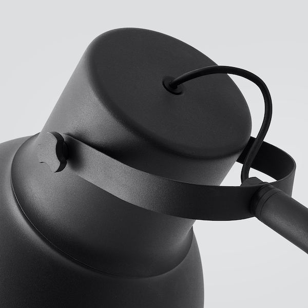 HEKTAR Lámpara de pie, gris oscuro