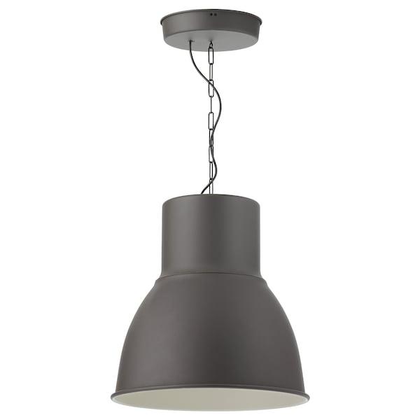 HEKTAR Lámpara de techo, gris oscuro, 47 cm