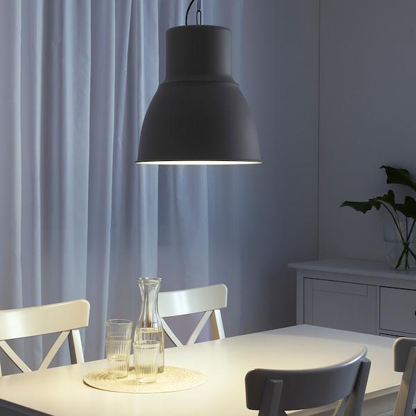 HEKTAR Lámpara de techo, gris oscuro, 38 cm