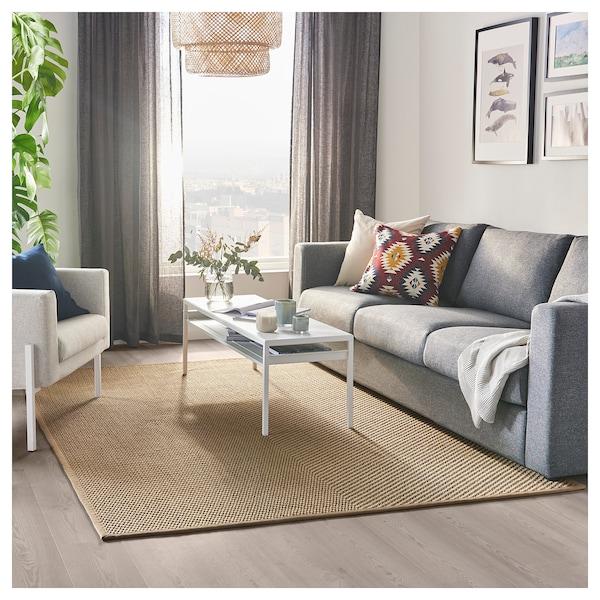 HELLESTED Alfombra, natural, marrón, 170x240 cm - IKEA