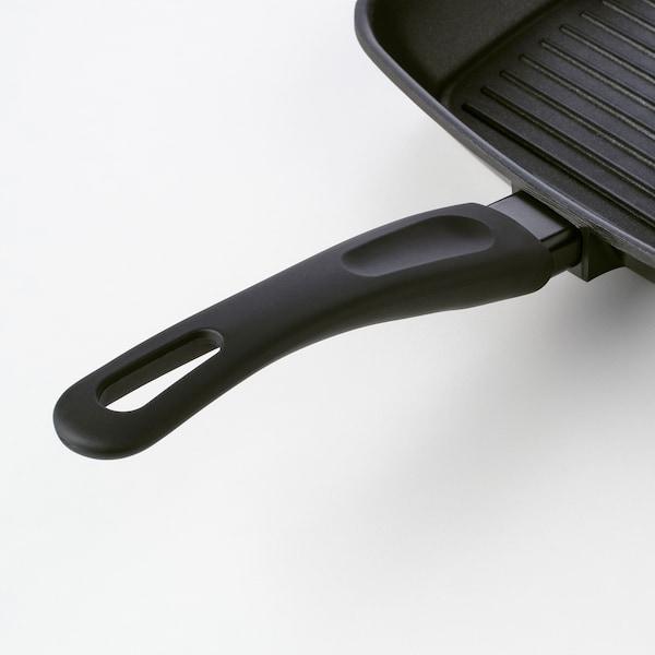 HEMLAGAD Parrilla, negro, 28x28 cm