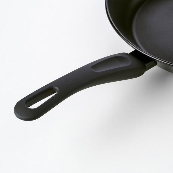 HEMLAGAD Sartén, negro, 28 cm
