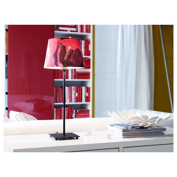 HEMMA Pie de lámpara de mesa, negro, 35 cm
