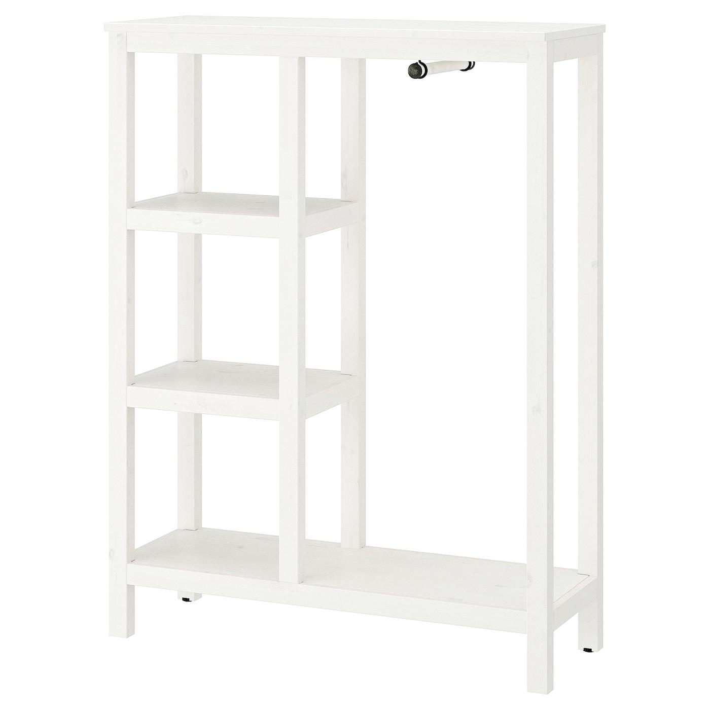 Hemnes armario abierto tinte blanco 99 x 37 x 130 cm ikea for Hemnes guardaroba