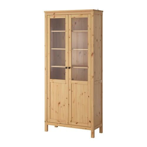 Hemnes armario puerta panel vidrio marr n claro ikea - Puerta armario ikea ...