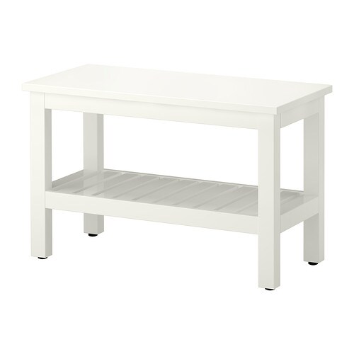 Hemnes banco blanco 83 cm ikea for Banco recibidor ikea