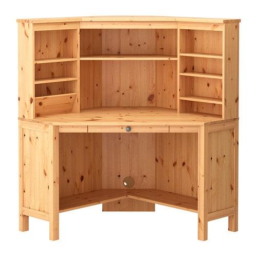 Armario Ingles Britanico ~ HEMNES Centro de trabajo esquina marrón claro IKEA
