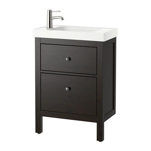 Hemnes hagaviken armario lavabo 2 cajones negro marr n ikea - Armario lavabo ikea ...