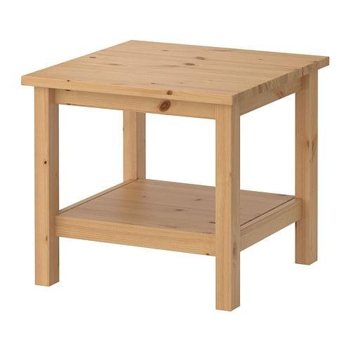 Hemnes mesa auxiliar marr n claro ikea - Ikea mesas auxiliares ...