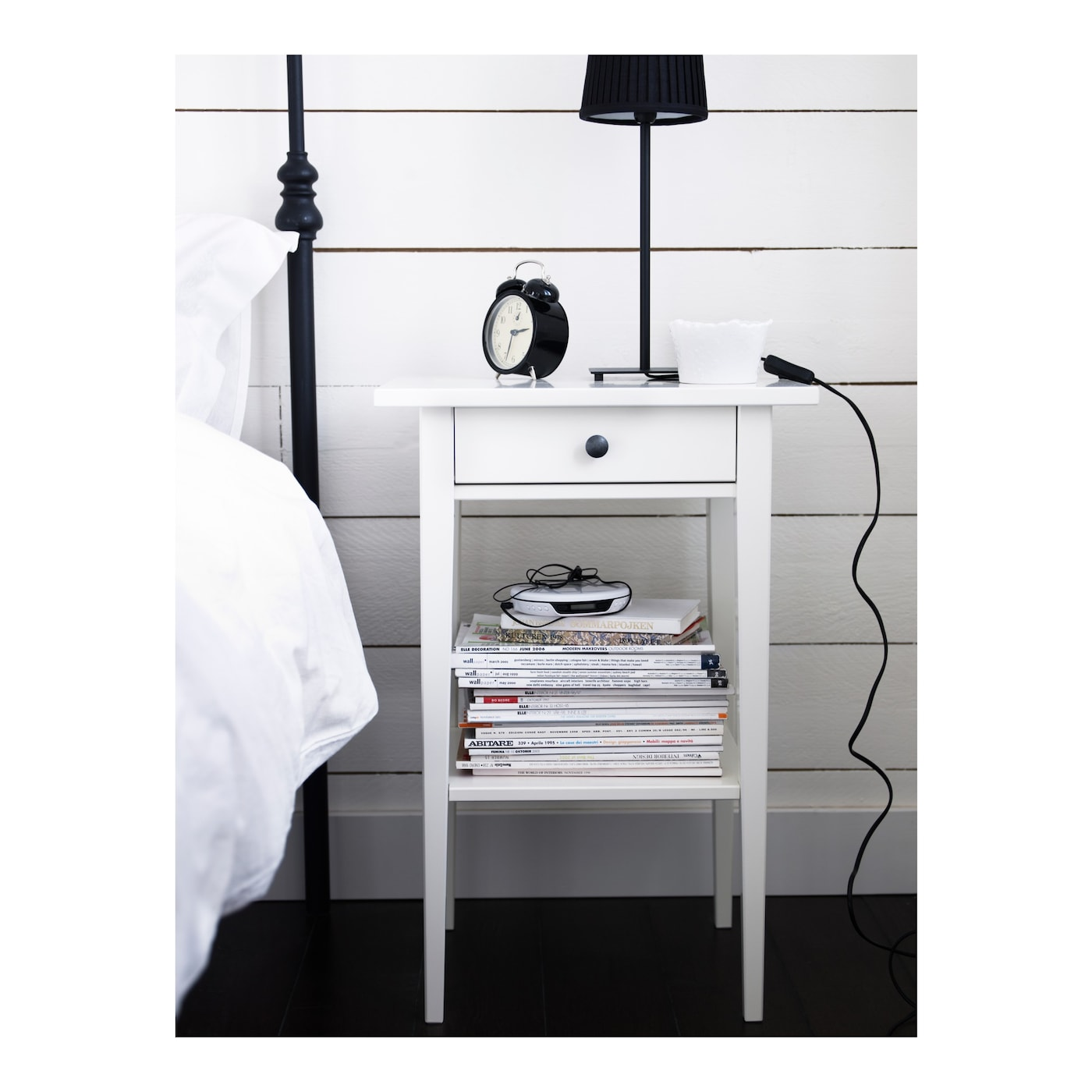 Hemnes mesilla de noche blanco 46 x 35 cm ikea - Ikea mesillas y sinfonier ...