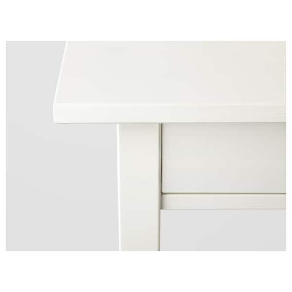 HEMNES Mesita de noche, tinte blanco, 46x35 cm