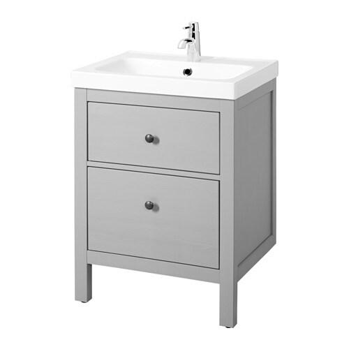 Hemnes odensvik armario lavabo 2 cajones gris ikea - Armario lavabo ikea ...