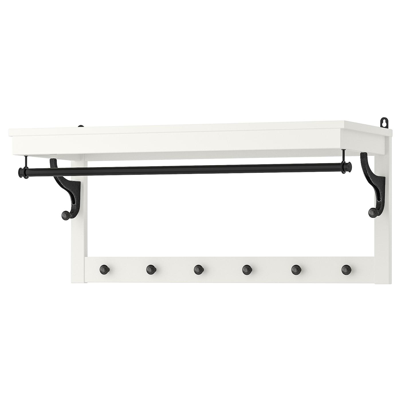Hemnes Perchero Estante Blanco 85 Cm Ikea