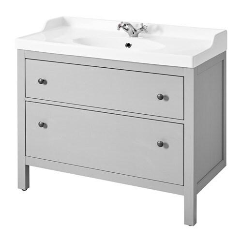 Adesivo Moveis Mdf ~ HEMNES RäTTVIKEN Armario lavabo 2 cajones gris IKEA