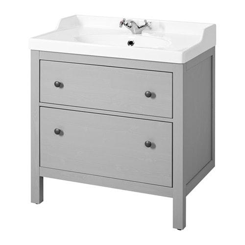 Hemnes r ttviken armario lavabo 2 cajones gris ikea - Armario lavabo ikea ...