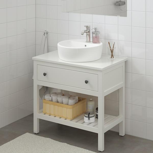 HEMNES / TÖRNVIKEN Mueble abierto/lavabo 45, blanco/Voxnan grifo, 82x48x90 cm