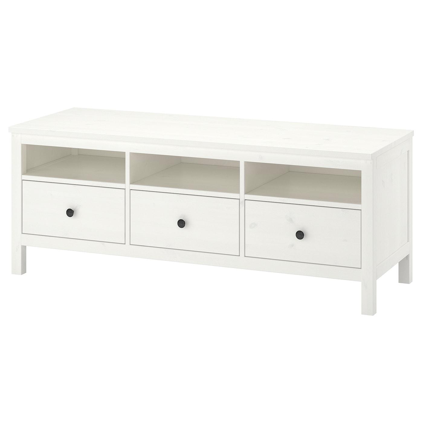 Mueble tv, tinte blanco, 148x47x57 cm