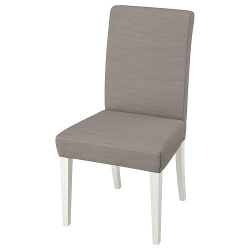 HENRIKSDAL silla blanco/Nolhaga beige grisáceo 110 kg 51 cm 58 cm 97 cm 51 cm 42 cm 47 cm