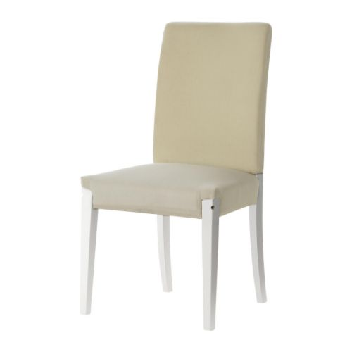 Henriksdal estructura de silla blanco ikea for Sillas de comedor ikea