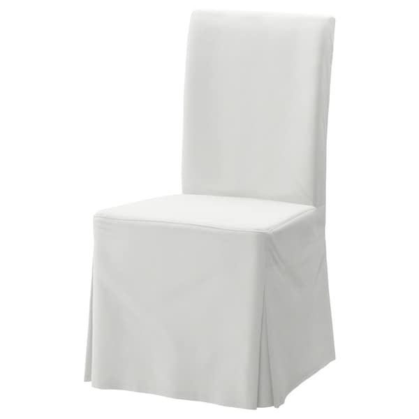 HENRIKSDAL Funda larga para silla, Blekinge blanco