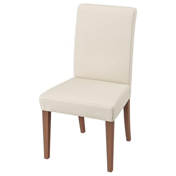 HENRIKSDAL Silla, marrón, Linneryd natural IKEA