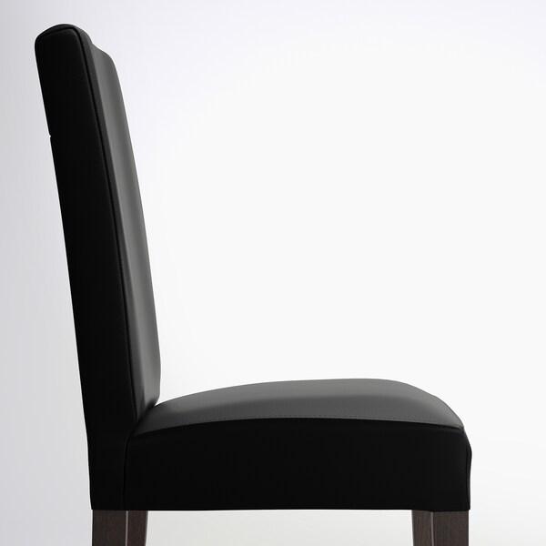 HENRIKSDAL Silla, marrón oscuro/Glose negro