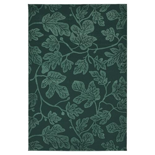 HILDIGARD alfombra, pelo corto verde 195 cm 133 cm 12 mm 2.59 m² 1880 g/m² 675 g/m² 9 mm