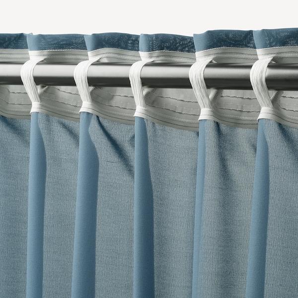 HILJA cortina, 1par azul 300 cm 145 cm 0.70 kg 4.35 m² 2 unidades