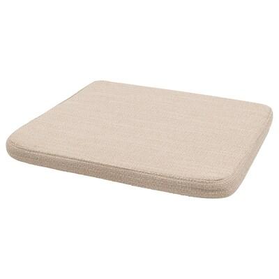 HILLARED Cojín para silla, beige, 36x36x3.0 cm