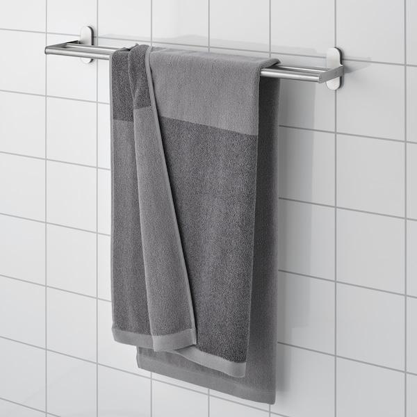 HIMLEÅN Toalla de baño, gris oscuro/mezcla, 70x140 cm