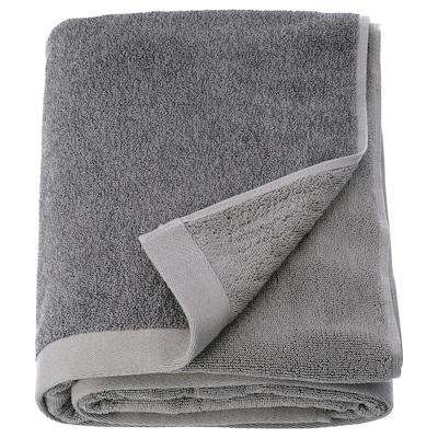 HIMLEÅN Toalla de baño, gris oscuro/mezcla, 100x150 cm