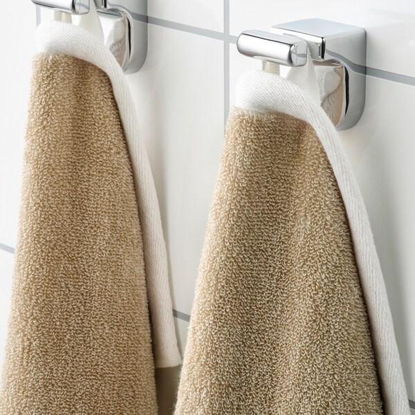 HIMLEÅN Toalla de mano, beige/mezcla, 50x100 cm