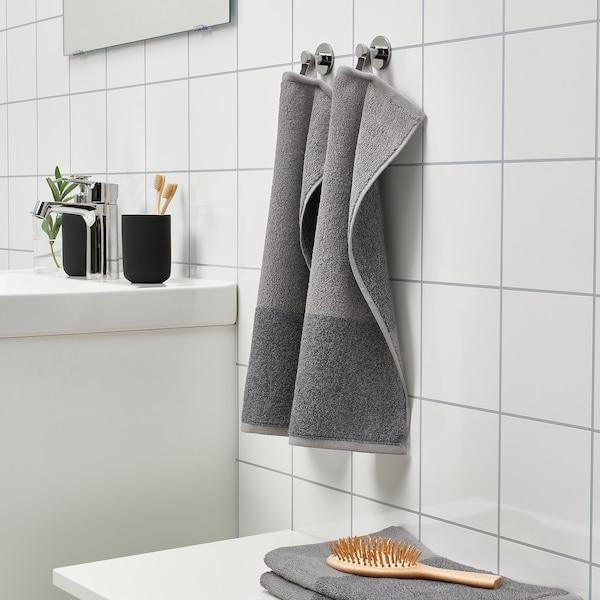 HIMLEÅN Toalla de mano para invitados, gris oscuro/mezcla, 30x50 cm