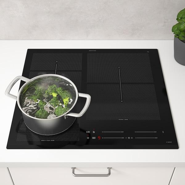 HÖGKLASSIG Placa de inducción, IKEA 700 negro, 59 cm