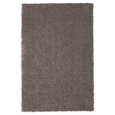 HÖJERUP Alfombra, pelo largo, marrón grisáceo, 120x180 cm