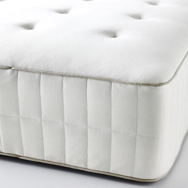 HOKKÅSEN Colchón de muelles embolsados, extra firme/blanco, 160x200 cm