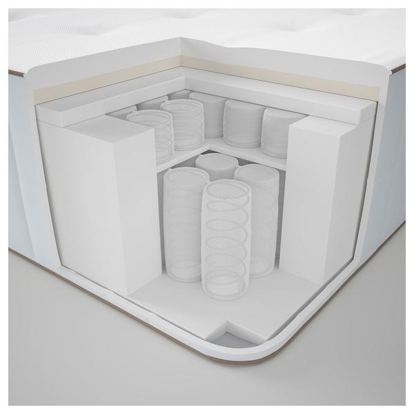HOKKÅSEN Colchón de muelles embolsados, firme/blanco, 140x200 cm