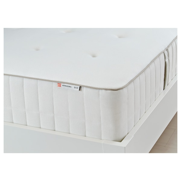HOKKÅSEN colchón de muelles embolsados Firmeza media/blanco 200 cm 140 cm 31 cm