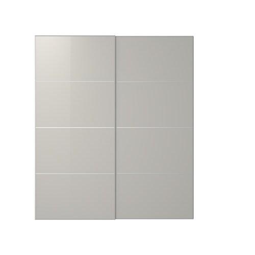 Hokksund puertas correderas 2 uds 200x236 cm for Sistema puertas correderas ikea