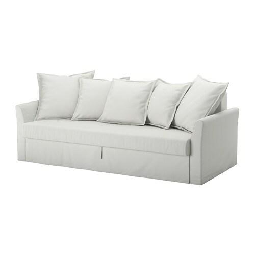 Holmsund sof cama 3 plazas orrsta blanco gris claro ikea for Sofa cama gris claro