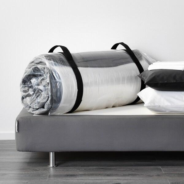 HÖVÅG Colchón de muelles embolsados, firme/gris oscuro, 140x200 cm