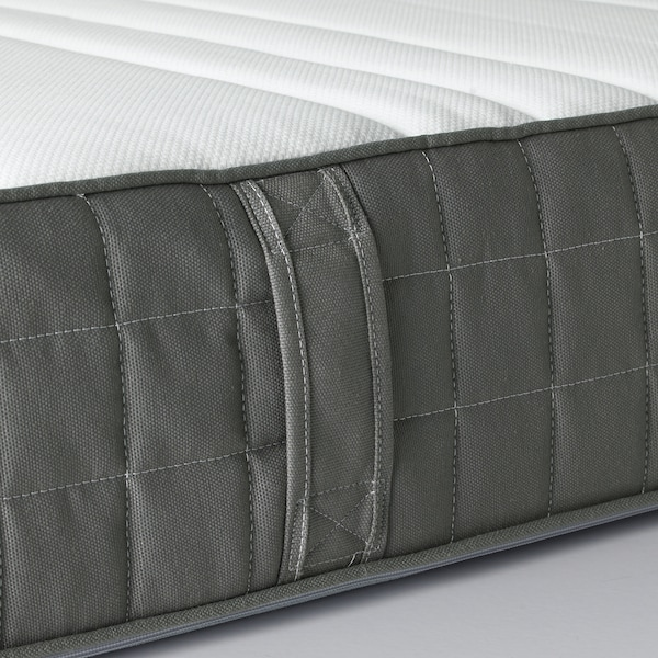 HÖVÅG Colchón de muelles embolsados, firme/gris oscuro, 90x190 cm