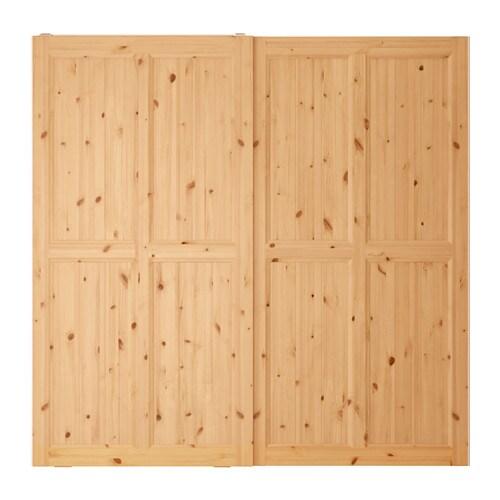 Hurdal puertas correderas 2 uds 200x201 cm ikea for Sistema puertas correderas ikea